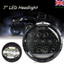 "7"" Motorcycle Projector LED Headlight HID Lamp For Harley Jeep Wrangler JK CJ UK"