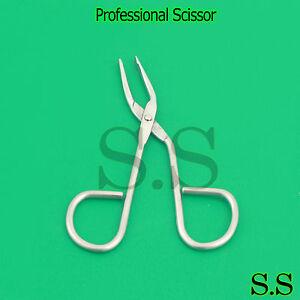 Scissor Tweezers Slant Tip Square Professional Salon Quality New Eyebrow