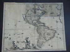 c.1671 ANTIQUE MAP OF AMERICA w CALIFORNIA AS AN ISLAND