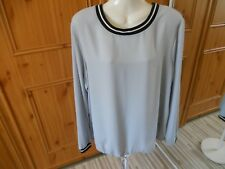 F&F Polyester Light Grey and Black Long Sleeve Top Size 18