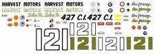 Fred Cady 640 #121 Harvest Motors 1966-Dan Gurney Nascar decal