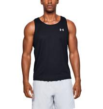 Under Armour UA Chaleco Camiseta para hombre de rayas de velocidad sin mangas Camiseta-Negro-Nuevo