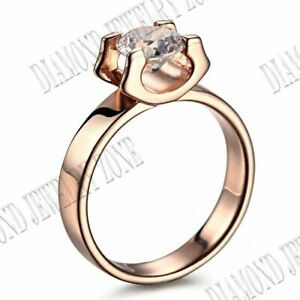 Solid 10k Yellow Gold Flawless 1.85CT Cubic Zirconia Ring Setting Fine Jewelry