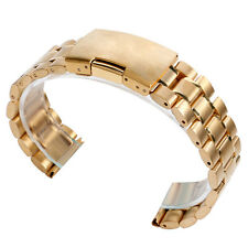 18/20/22mm Solid Stainless Steel Men Wrist Band Watch Strap Bracelet Replacement
