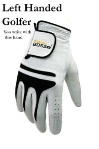 *READ LISTING* Cabretta Leather Golf Glove by Swing Boss for Left Handed Golfers