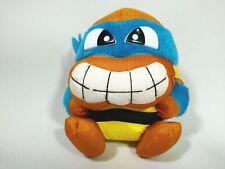 TMNT Teenage Mutant Ninja Turtles Leonardo Plush Doll Japan Takara 1993 Tafetta