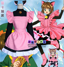 Cosplay Lolita Maid Dress Anime CARDCAPTOR SAKURA Kawaii Cat Costume