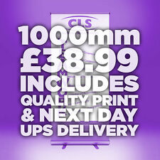 1000mm Roller Banner Roll/Pull Up Exhibition Stand INC PRINTED GRAPHIC