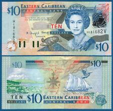 EAST CARIBBEAN STATES / St. Vincent 10 Dollars (2003) UNC P. 43v