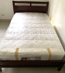 Mandaue Foam Bedframe and Bonnel Spring Mattress Full Size