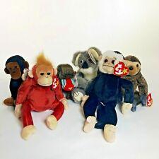 Lot Of 6 Ty Beanie Babies - Assortment of Monkeys