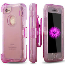 iPhone X XS 6 7 8 + Clear Defender Cover Case Fits Otterbox Defender Belt Clip