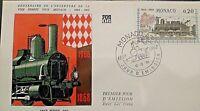 MONACO Stamp 1° Jour FDC n° 752 Liaison Nice Monaco 1968