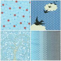 4x Paper Napkins -Color Mix Blue- for Party, Decoupage Craft Vintage