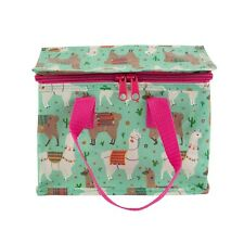 Sass and Belle Lima Llama Design Zip up Lunch Bag