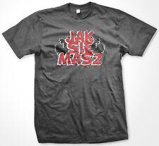 Jak Sie Masz- How Are You? Poland Polish Country Colors Crest Men's T-shirt
