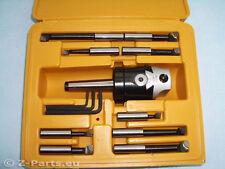 Bohrkopf / Ausdrehkopf Set 50 mm MK 2 / M 10 mit 9 Stk Bohrstangen NEU