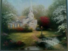 Hometown Chapel Print by Thomas Kinkade in 11 x 14  Matte & Framed with COA