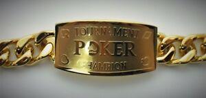 Tournament Poker Champion Gold Bracelet - Great Tournament Prize WSOP Casino