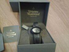 Vivienne Westwood Swiss Black Ellipse Watch VV014CHBK  NEW AND 100% GEN