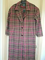 WILD FABLE Oversized Pink Brown Plaid Coat Size M Fits M-XL NEW w TAGS Cosplay