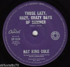 NAT KING COLE Lazy, Hazy, Crazy Days Of Summer / In The Cool Of The Day 45