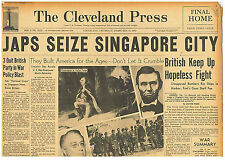 JAPANESE SEIZE SINGAPORE CITY BRITISH FIGHT ON FEBRUARY 12TH 1942 0310115WQ B10