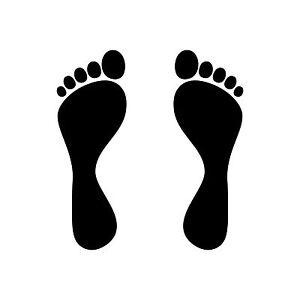 1 Pair 2 Feet 4 11/16in Children Stand Impression Spur Sticker Tattoo Deco Foil