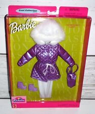 """New Barbie Fashion Avenue Coat Collection """"Off The Slopes"""" Coat Purse Pants Boot"""