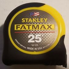 Stanley 25' FatMax Tape Measure, Made in the USA #33-725