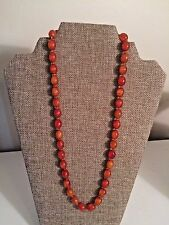 SARAH COVENTRY COV Amber Colored Bead NECKLACE Statement Jewelry BOHO STRAND 24""