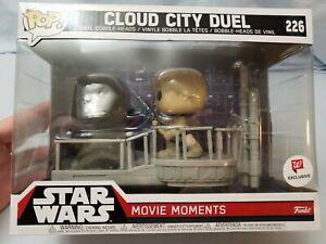 NEW FUNKO POP! Star Wars Movie Cloud City Duel Exclusive #226 Luke Darth Vader