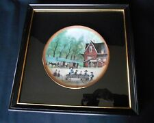 FRAMED Buckley Moss Ltd Collector Plate the BLACKSMITH  NEW w/Certificate