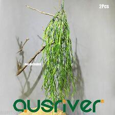 New 2Pcs 90cm Fake Artificial Plant Hanging Leaf Ivy Vine Home Shop Decor Green