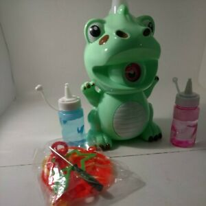 Dinosaur Toy Bubble Machine for Kids, Outdoor Bubble Maker Toy with Light-Music