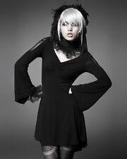 Punk Rave Black Butterfly Dress Goth Lolita Visual Kei Lace Trim Long Sleeve Top