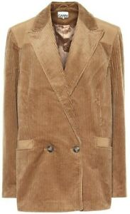 Brown Corduroy Mens Tuxedo Suits Jacket Two Button Hunting Prom Casual Blazer