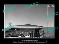 OLD HISTORIC PHOTO OF LOS ANGELES FIRE DEPARTMENT, THE No 18 ENGINE STATION 1969