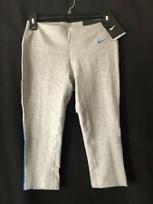 """Nike Women""""s Pants Tight Fit Cotton Capri Grey Blue XS New with Tags"""