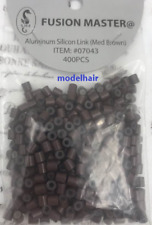 FUSION MASTER ALUMINUM SILICON MED BROWN BEADS MICRO RING LINK CRIMP 400 PCS