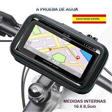 FUNDA PORTA MÓVIL BICICLETAS MOTOS BOTES LANCHAS A PRUEBA DE AGUA GIRA 360º GPS