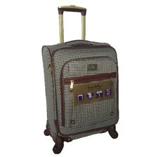 """NICOLE MILLER WOMEN'S 20"""" HOUNDSTOOTH CARRY-ON SPINNER LUGGAGE SUITCASE, NEW"""