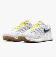 Nike Court Women's Air Zoom Vapor X HC AA8027-109 White/Blue Tennis Shoes Size 8