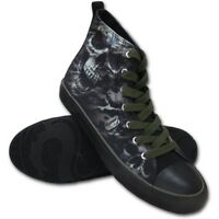 Spiral Direct CAMO-SKULL - Sneakers - Mens High Top Army/Shoes/Camouflage/Death