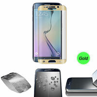 Gold Full Cover Tempered Glass Screen Protector For Samsung Galaxy S7 Edge NEW