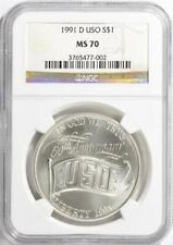 1991-D USO Silver Dollar Commemorative - NGC MS-70 _ Mint State 70