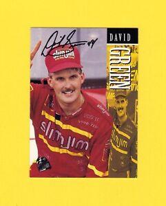 DAVID GREEN 1995 NASCAR Press Pass Racing # 60 Slim Jim Signed Autograph Card NM