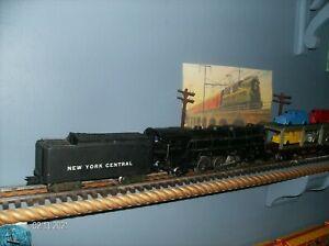 VINTAGE 1950 MARX BEAUTIFUL ORIGINAL 333 HEAVY LOCOMOTIVE & DIECAST TENDER A+