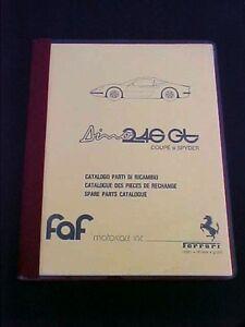 Ferrari Dino 246 Spare Parts Manual Book 246GT FAF Reprint