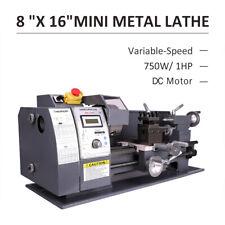 "750W 8""x16"" Automatic Mini Metal Lathe Variable-Speed Metalworking Milling Tool"